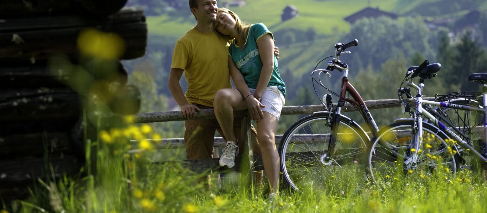 Pause bei der Radtour in Gastein